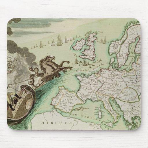 Mapa que ilustra el ataque naval contra Inglaterra Tapetes De Raton