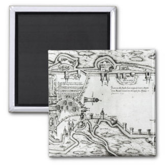 Mapa que ilustra La Rochelle ocupado Imanes De Nevera