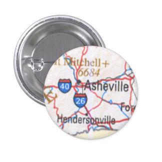 Mapa que muestra Asheville/el botón de Hendersonvi Pin
