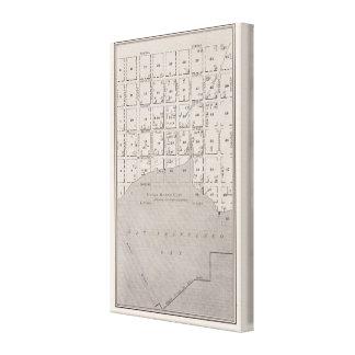 Mapa que muestra el watefront de San Francisco en  Lienzo Envuelto Para Galerías