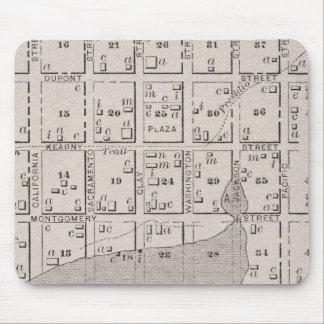 Mapa que muestra el watefront de San Francisco en  Alfombrilla De Raton