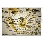 Mapa que muestra la tarjeta de Malasia