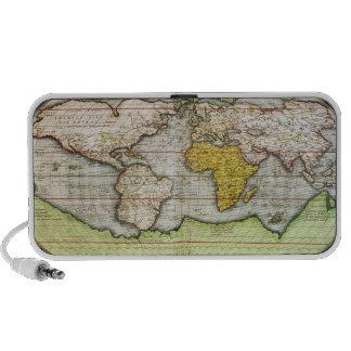 Mapa que traza a sir Francis Drake Mp3 Altavoz