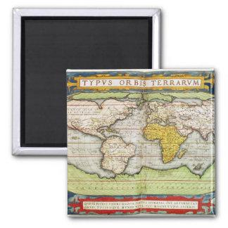 Mapa que traza a sir Francis Drake Imanes De Nevera