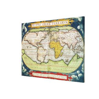 Mapa que traza a sir Francis Drake Impresiones En Lona Estiradas