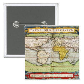 Mapa que traza a sir Francis Drake Pin