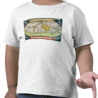 Mapa que traza a sir Francis Drake Camiseta