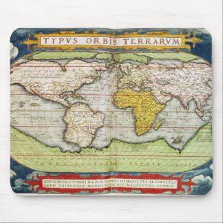 Mapa que traza a sir Francis Drake Alfombrilla De Ratones