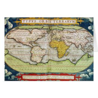 Mapa que traza a sir Francis Drake Tarjetas