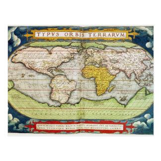 Mapa que traza a sir Francis Drake Postal