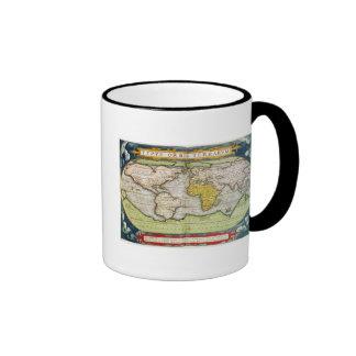 Mapa que traza a sir Francis Drake Taza De Café
