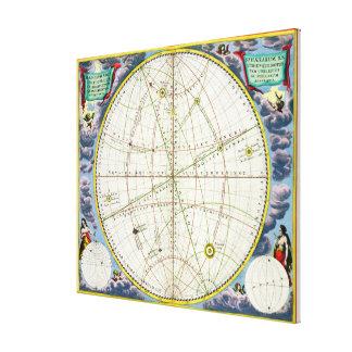 Mapa que traza el movimiento de la tierra y de los impresion en lona