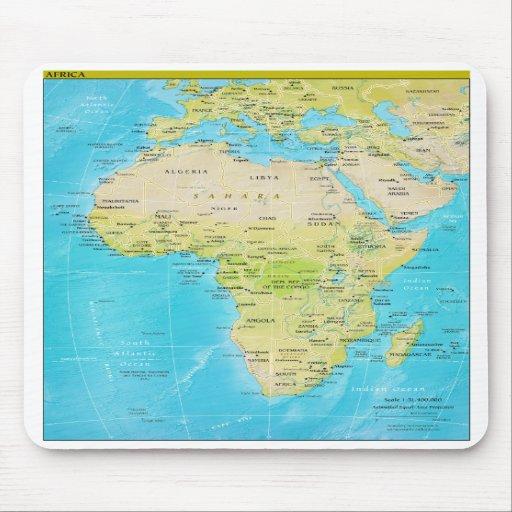 Mapa regional geopolítico de África Alfombrilla De Ratón