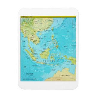 Mapa regional geopolítico de Asia sudoriental Imanes Rectangulares