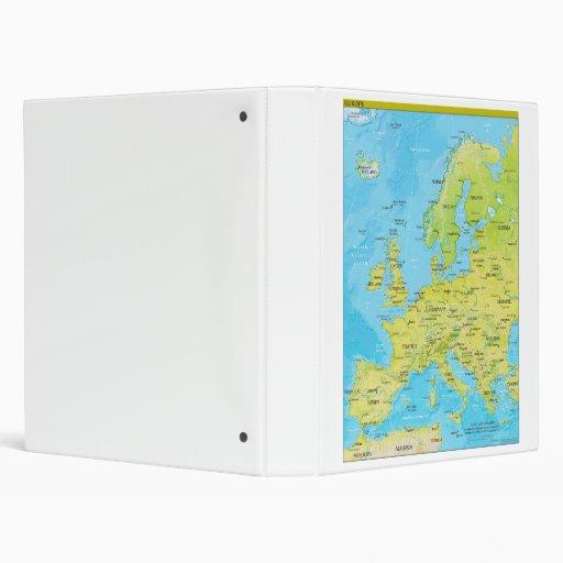 Mapa regional geopolítico de Europa