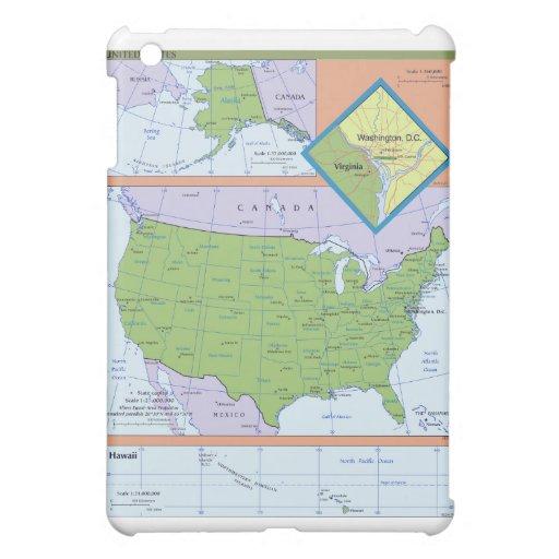 Mapa regional geopolítico de los Estados Unidos