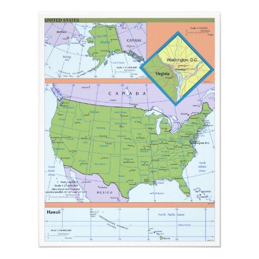Mapa regional geopolítico de los Estados Unidos Comunicado Personal