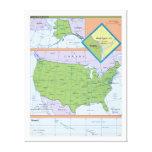 Mapa regional geopolítico de los Estados Unidos Impresiones En Lienzo Estiradas