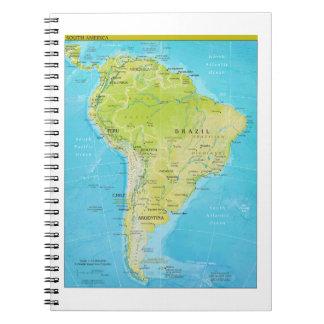Mapa regional geopolítico de Suramérica Libros De Apuntes
