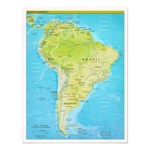 Mapa regional geopolítico de Suramérica Comunicados Personales