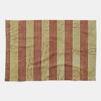 Mapa resistido del tesoro toallas de mano