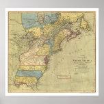 Mapa revolucionario 1771 de América Impresiones