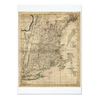 """Mapa revolucionario de la era de la guerra de invitación 5"""" x 7"""""""