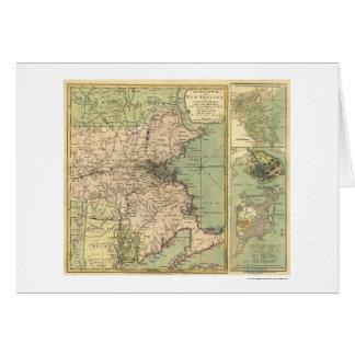 Mapa revolucionario de la guerra - 1775 tarjeta de felicitación