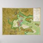 Mapa revolucionario de la guerra de Boston Massach Impresiones