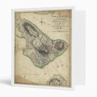 """Mapa revolucionario de la guerra del Bunker Hill Carpeta 1"""""""
