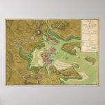 Mapa revolucionario de la guerra del puerto 1776 d posters