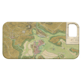 Mapa revolucionario de la guerra del puerto 1776 iPhone 5 fundas
