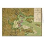 Mapa revolucionario de la guerra del puerto 1776 tarjeta de felicitación