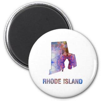 Mapa RHODE ISLAND del estado del mosaico del Imán Redondo 5 Cm