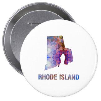 Mapa RHODE ISLAND del estado del mosaico del Pin
