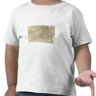 Mapa Richmond y Louisville RR Camisetas