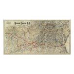 Mapa Richmond y Louisville RR Impresiones