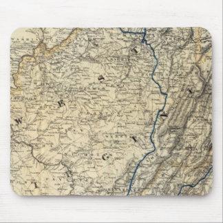 Mapa Richmond y Louisville RR Tapetes De Raton