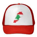 Mapa ROJO de la bandera de Líbano Gorra