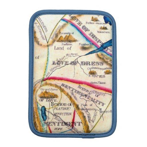Mapa romántico del vintage de las sensaciones de l fundas iPad mini