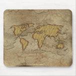 Mapa rústico de la tierra de los Arty Mousepad del Tapetes De Raton