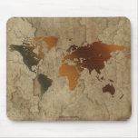Mapa rústico de la tierra de los Arty Mousepad del Tapete De Ratones