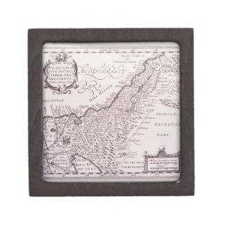 Mapa sagrado de Palestina, la tierra prometida Caja De Recuerdo De Calidad