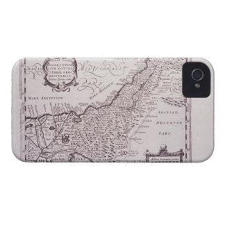 Mapa sagrado de Palestina, la tierra prometida iPhone 4 Case-Mate Cárcasa
