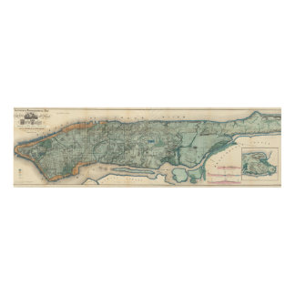 Mapa sanitario y topográfico de New York City Cuadro