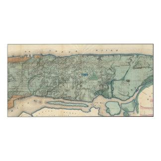 Mapa sanitario y topográfico de New York City Impresión En Madera