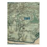 Mapa sanitario y topográfico de New York City Tarjeta Postal