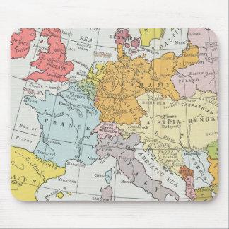 Mapa SE del norte de Francia, Italia Austria Hungr Alfombrilla De Ratones