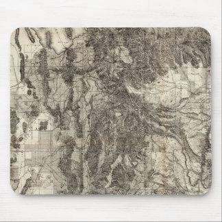 Mapa seccional del oeste nuevo y topográfico de Ut Tapete De Ratones