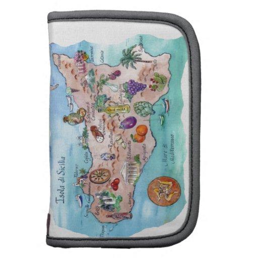 Mapa siciliano organizador